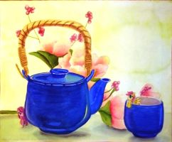 Tea And Ponys Still Life by LinksLove