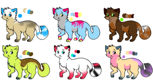 Cat adoptables - Open by SnowAdopts