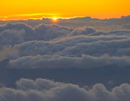Sunset at 10000 Feet by MogieG123