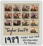 Taylor Swift 1989 Folder Icon Pack by Rizzie23