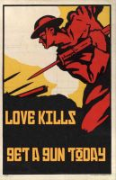 Love Kills - Get a Gun by blacklotus