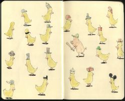 Hats birds and one sinister by MattiasA