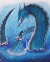 Water dragon by Anitacrackers