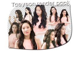 Taeyeon render pack by Luhye