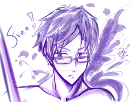 Rei sketch - Free! Iwatobi Swim Club by Nekoi-Echizen