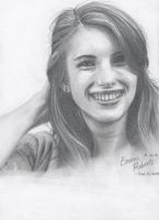 Emma Roberts -pencil- by cypii