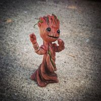 Groot in a pot by ManicMinion