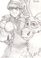 Kristoff and Sven by Yamatoking