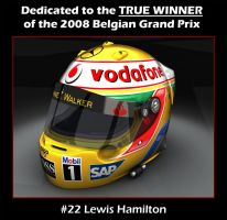 Lewis Hamilton 2008 injustice by AfroAfroguy