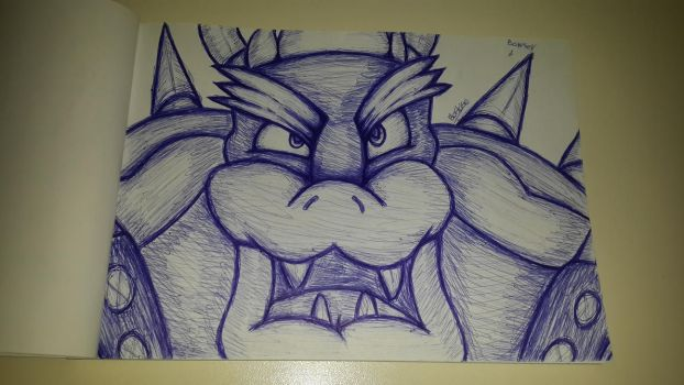 Bowser on pen by CHARIZARD205