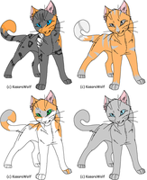 Warrior Cat OCs - Siblings by Kisshus-Koneko-Chan