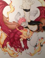Natsu and Igneel by PandaCat4213