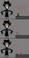 IN WHICH KARKAT GETS MAD AT INANIMATE OBJECTS. by SpinningAxis