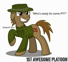 SGT. Spur by FirstAwesomePlatoon