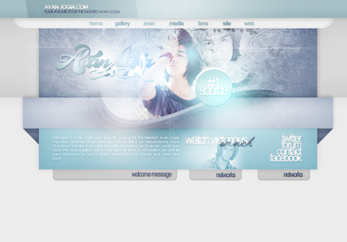 Avan Jogia Fansite Layout by R21Art