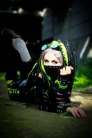 Cybergoth in green by mysteria-violent
