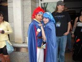Kumoricon 2009: Marth and Roy by Red-Supernova64