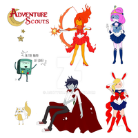 Adventure Scouts Sticker Sheet by Ashty187