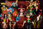 One Piece Collage Cine by Moskita