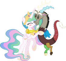 [COM] Princess Celestia and Discord by MacTavish1996