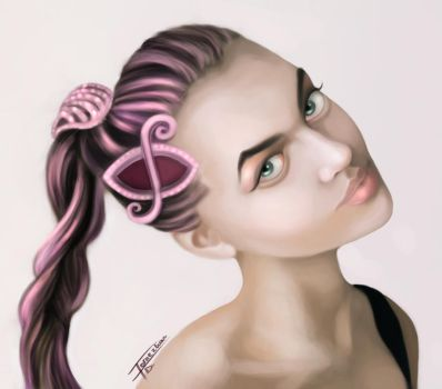 Girl portrait by Fernezco
