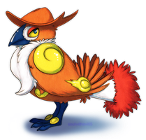 Honchkrow Infernape crossover by soulwithin465