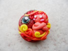Fire Elemental Pendant by Saru-Hime
