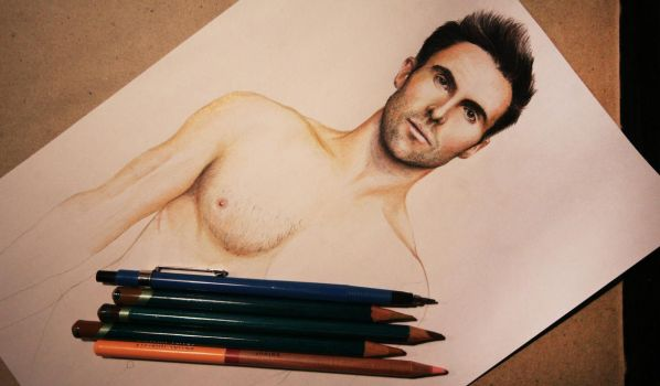 Adam Levine (naked version wip) by Gutter1333