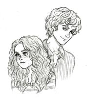 Clary and Jace by Naineuh