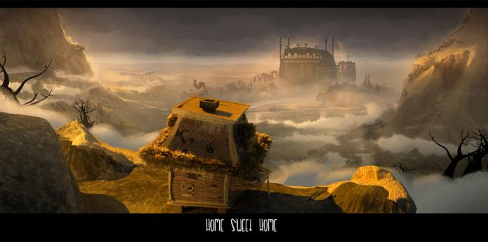 Home Sweet Home Matte Painting by alejodiaz
