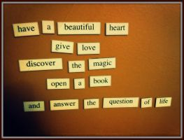 Door magnet poetry by AJ-anba17