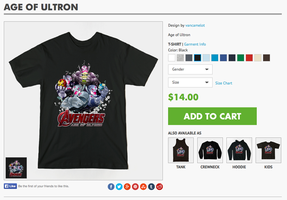 Age of Ultron T-shirts!!! by vancamelot