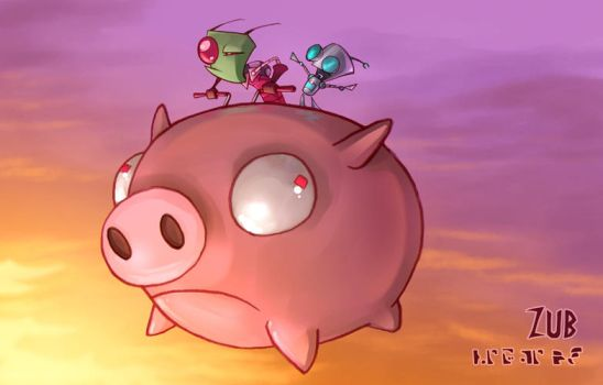 Zim- Ride The Pig by Zubby