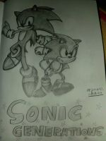 Sonic Generations Drawing by TheCoolCosplayer22