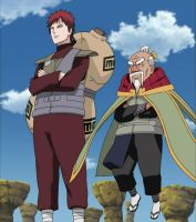 Onoki joins Gaara to prepare to fight Kages by TheBoar