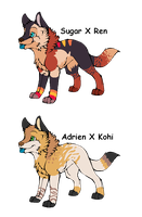2 Pups to ~Kama-ItaeteXIII by MichelsAdoptions
