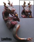 Ferret Dragon Sculpture by Leustante
