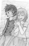 Nami and Luffy in Skypia by 1Scrat