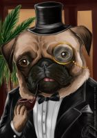 Sir Pugsley by Ioana-Muresan
