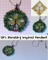 QP's Heraldry Inspired Pendant by QuantumPhysica