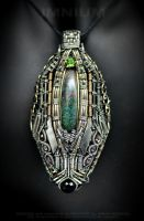 Opal monster pendant by IMNIUM
