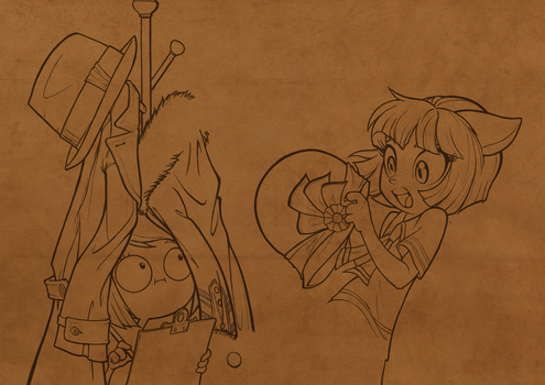 Ivy gets a surprise.  (WIP) by Ohnhai