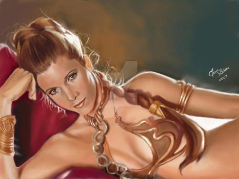 Slave Leia by etchesketcher