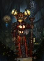 Dwarf hunter (female) by artkingman