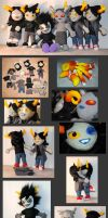 Troll Plushies extra material by Eyes5