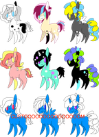 Male Pony Adopts! .:OPEN:. 6/9 by DubbyLuvsYoPugs