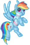 Rainbow Dash Robot by xxMoonwish