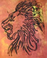 Lion print by AmzyBabes