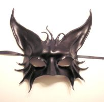 Cat Creature Leather Mask by teonova