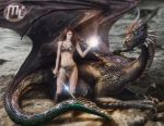 Red Sonja and Dragon Tender Love by Maryneim